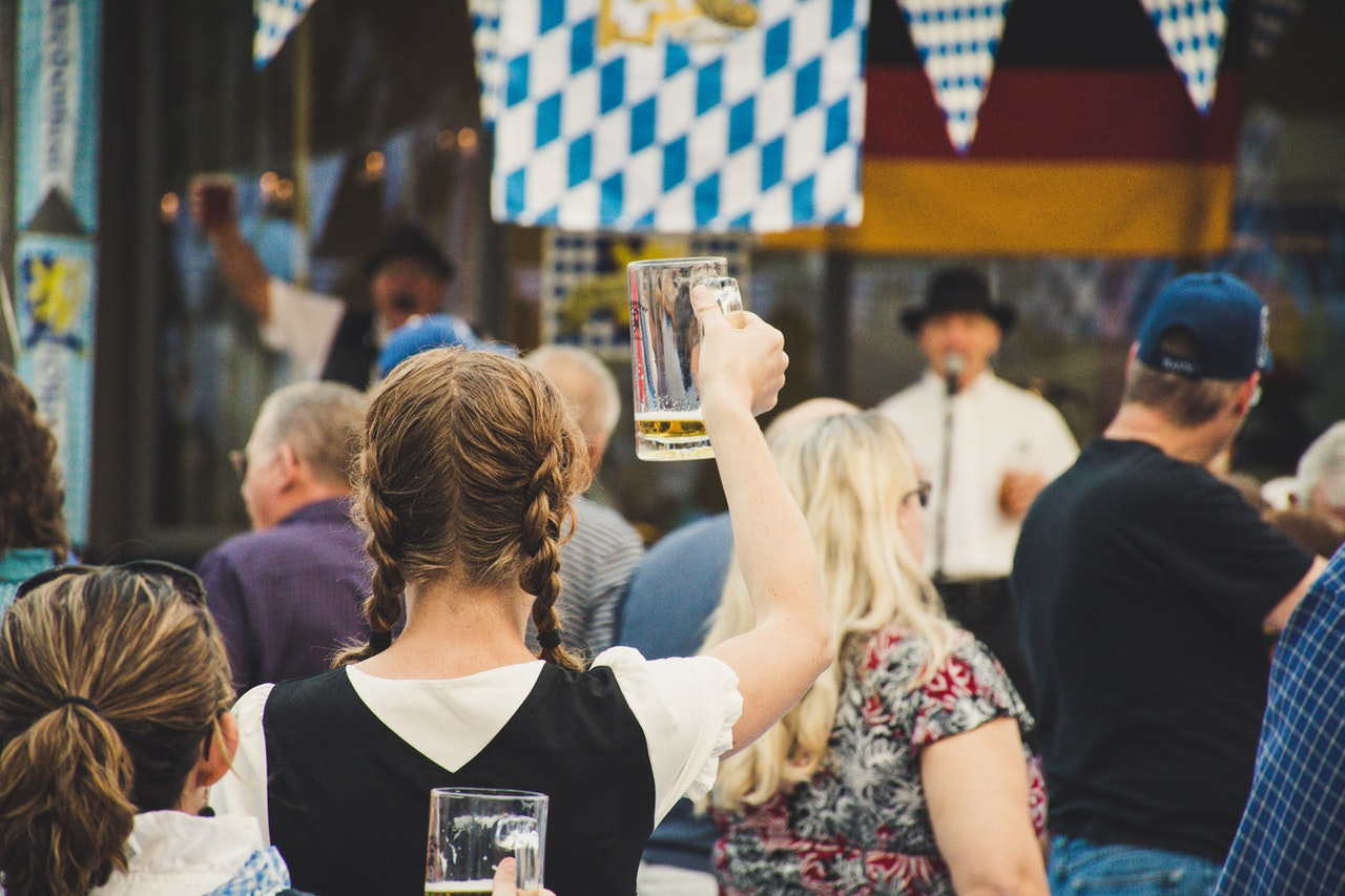 Oktoberfest Party Ideas and German Theme Party -adult-beer-crowd-1467807
